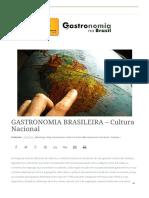 GASTRONOMIA BRASILEIRA - Cultura Nacional - Gastronomia No Brasil