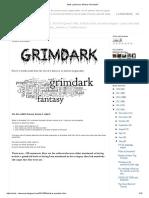 Mark Lawrence_ What is Grimdark