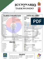 taekwondo diccionario