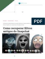 Como recuperar filtros antigos do Snapchat.pdf