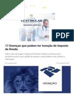 17 Doenças que podem ter Isenção de Imposto de Renda.pdf
