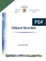 Politique Eau Maroc