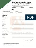 Formulir Pendafataran Bimbel A Plus CLC