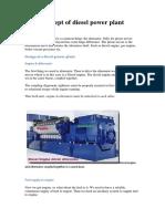 Basic Concept of Diesel Power Plant Design