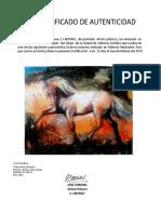 Certificacion de Autenticidad Serie Libertad 4
