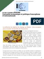 Régime de Change Au Maroc