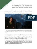 Sandra Díaz_Si Se Pierde Más Bosque No Se Podrán Garantizar Bienes Ambientales Vitales