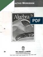 9780030540844 Algebra 2 Practice Workbook