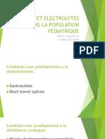 Fluid Et Electrolytes Dans La Population Pediatrique