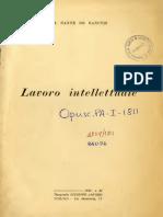 Sante de Sanctis - Lavoro Intellettuale
