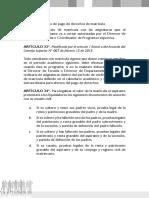 Reglamento Pregrado UIS - Legalizar El Valor de La Matrícula
