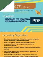 Startegic management. Chapter 7 .thomson book
