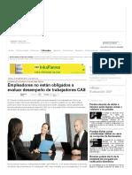 Empleadores No Están Obligados a Evaluar Desempeño de Trabajadores CAS — La Ley - El Ángulo Legal de La Noticia