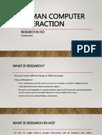 Research in HCI