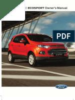 Manual propietario Ford Ecosport