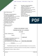 19-10-21 Intel Antitrust Complaint Against Fortress