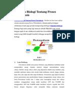 Makalah Biologi Tentang Proses Fotosintesis