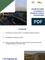 Estudio de Tarifas en Autopistas Urbanas Concesionadas