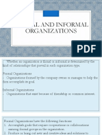 Formal and Informal Organizations