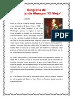 Biografía de Diego de Almagro El Viejo
