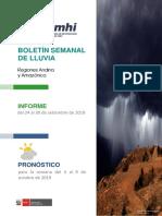 BOLETIN DE LLUVIAS OCTUBRE 2019