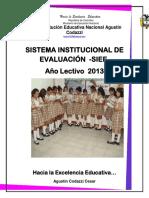 Sistema Institucional de Evaluación de Los Aprendizaje -Siee- 2013