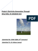 PM PROJECT FOR ELECTRICITY GENERATION FROM WIND MILL