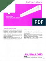 Spaulding Lighting Enclosed Miami Fluorescent Spec Sheet 6-77