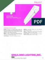 Spaulding Lighting Miami I Fluorescent Spec Sheet 4-86