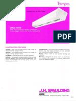 Spaulding Lighting Tampa Fluorescent Spec Sheet 6-77