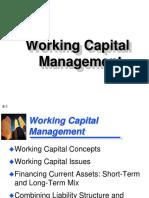 Working Capital Mgt