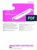 Spaulding Lighting Vegas I Fluorescent Spec Sheet 4-86