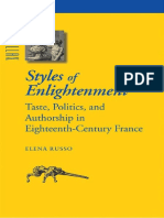 (Parallax_ Re-Visions of Culture and Society) Elena Russo - Styles of Enlightenment _ Taste, Politics and Authorship in Eighteenth-century France-Johns Hopkins University Press (2006)