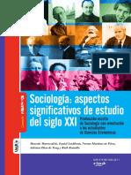 Sociologia aspectos significativos de estudio del siglo XX