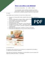 Cómo identificar a un alumno con dislexia