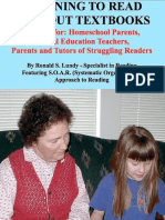 Learning to Read Without Textbooks; A Guide for Homeschool Parents, Special Education Teachers, Parents and Tutors of Struggling Readers (Ronald Lundy)