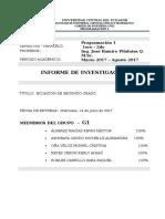 Ecuacion de Segundo Grado- Investigacion