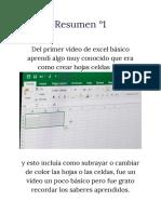 Resumen °1 exel basico