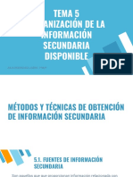 Investigación Comercial - Organización de la información secundaria