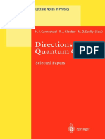 (Lecture Notes in Physics 561) Martin Fliesser, Robert Graham (Auth.), Howard J. Carmichael, Roy J. Glauber, Marlan O. Scully (Eds.) - Directions in Quantum Optics_ a Collection of Papers Dedicated To