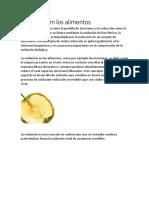 Oxidación en Los Alimentos