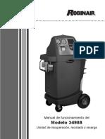 Manual de la maquina para recolectar gas 134A Robinair