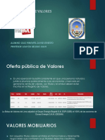 Mercado de Valores - TRABAJO ENCARGADO