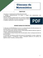 Gincana Matemática