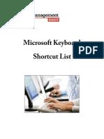 Windows Shotcut List