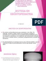 Anestesia en Odontopediatria