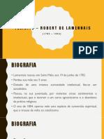 Félicité – Robert de Lamennais