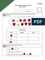 Prueba 1º Basico CAP 13 Tablas y Gráficos