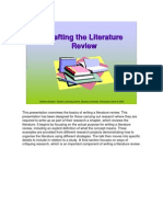 Crafting the Literature Review
