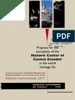 Propuesta de inscripción del Centro Histórico de Cuenca